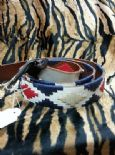 KILLER 50s ROCKABILLY REVERSIBLE LEATHER BELT SZ 100 AMAZING DESIGN-TOP QUALITY